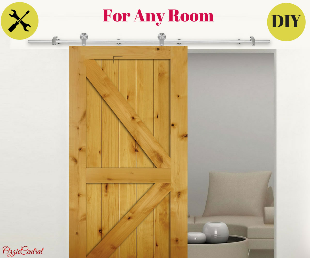 20 Home Offices With Sliding Barn Doors: 2M Stainless Steel Sliding Barn Door Hardware Track Set